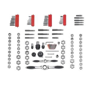 Click here to buy GearWrench Ratcheting Tap and Die Set (117-Piece) by GearWrench.