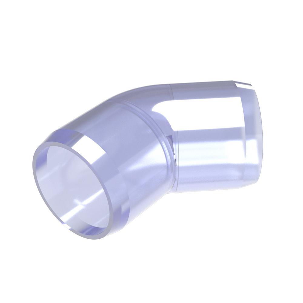 Furniture Grade 1-1//2 Size Pack of 4 FORMUFIT F11290E-WH-4 90 Degree Elbow PVC Fitting White