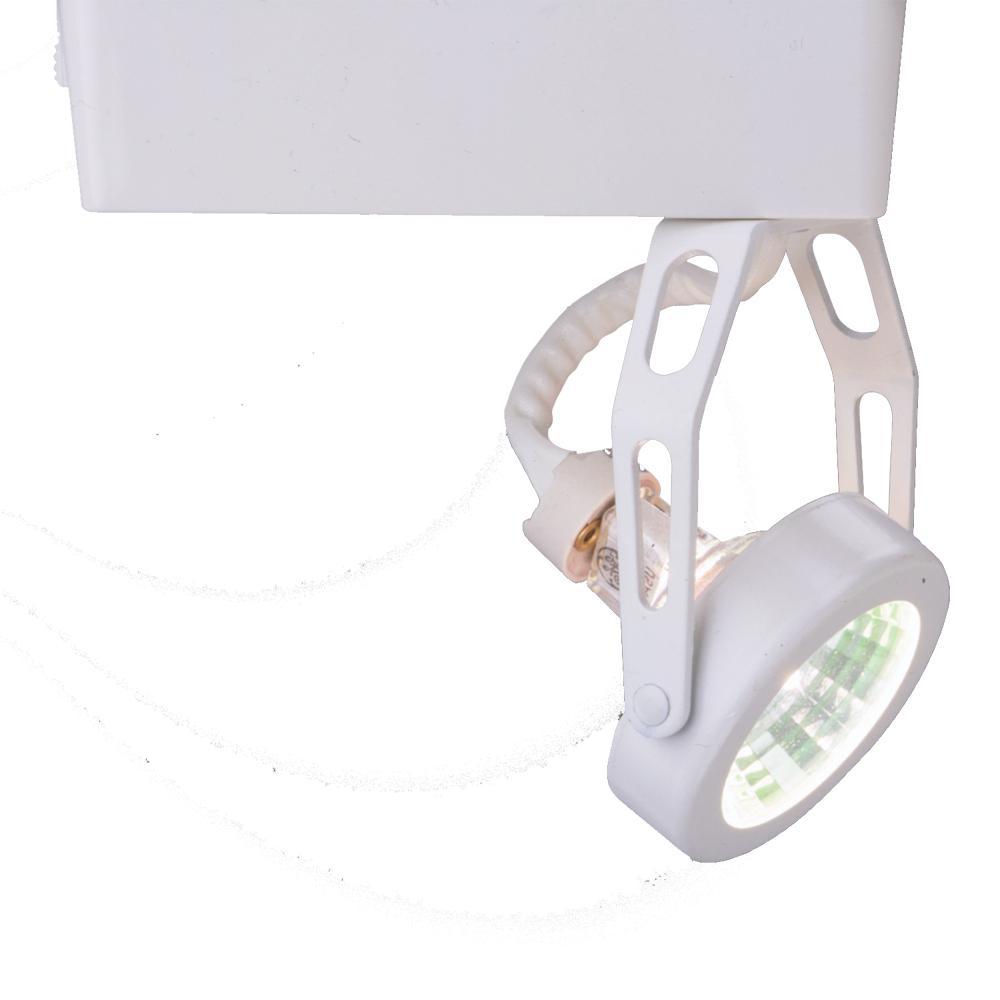 Halo Lazer Low-Voltage White Gimbal Ring Track Lighting with Integral 12-Volt Elec Transformer 50-Watt MR16