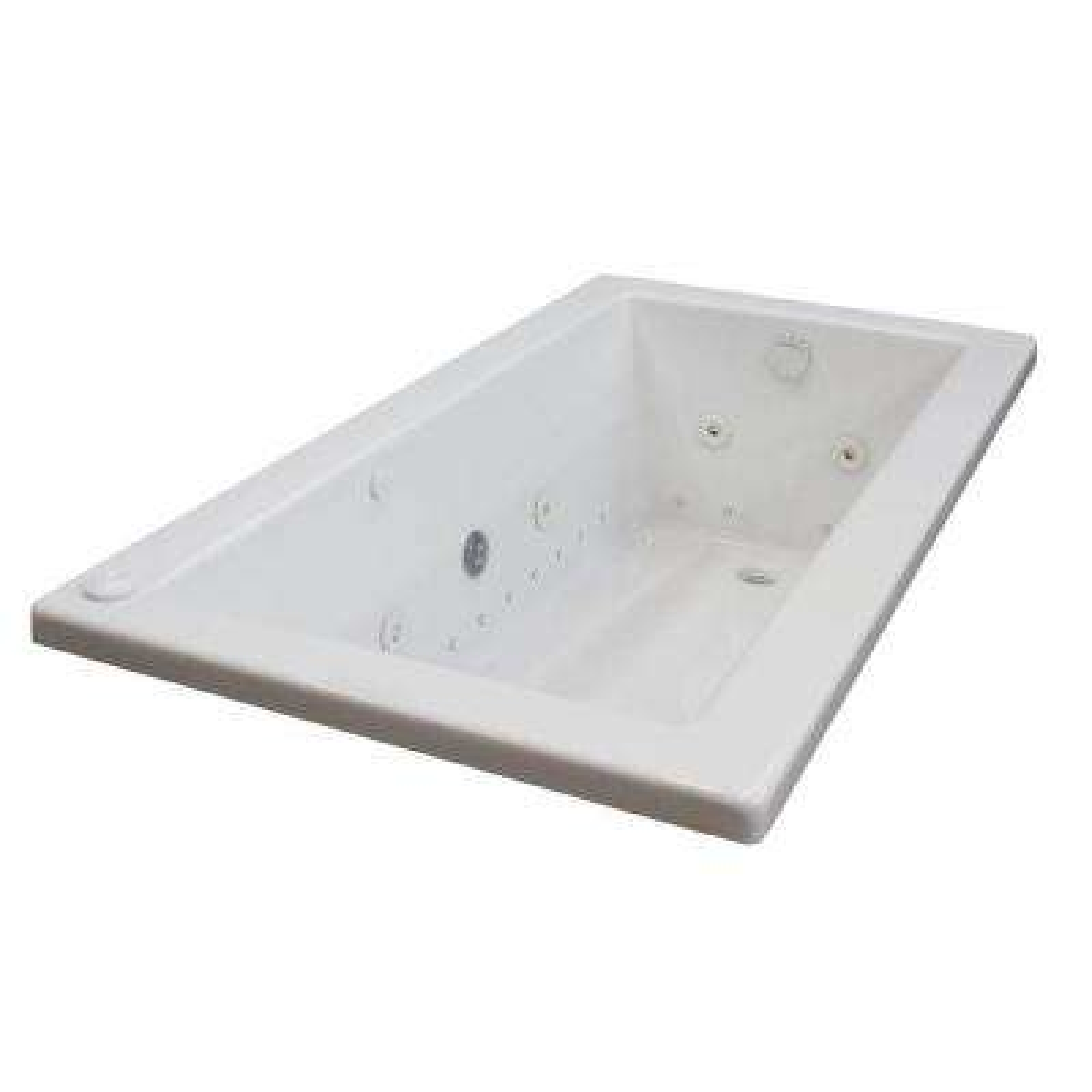 Sapphire Diamond Series 5.5 ft. Left Drain Rectangular Drop-in Whirlpool and Air Bath Tub in White
