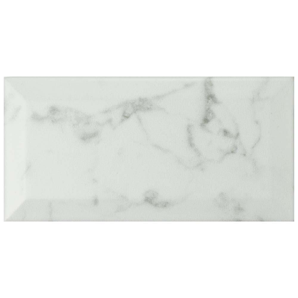 Merola Tile Classico Carrara Matte Metro 3 In X 6 In