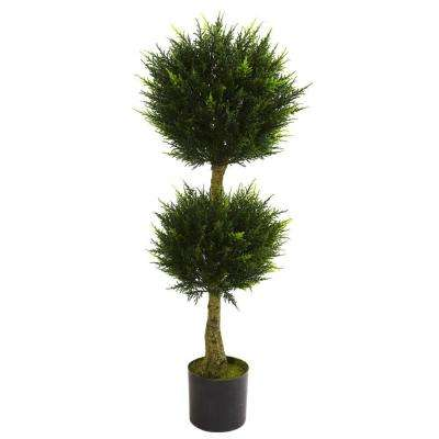 4 ft. UV Resistant Indoor/Outdoor Double Ball Cypress Topiary