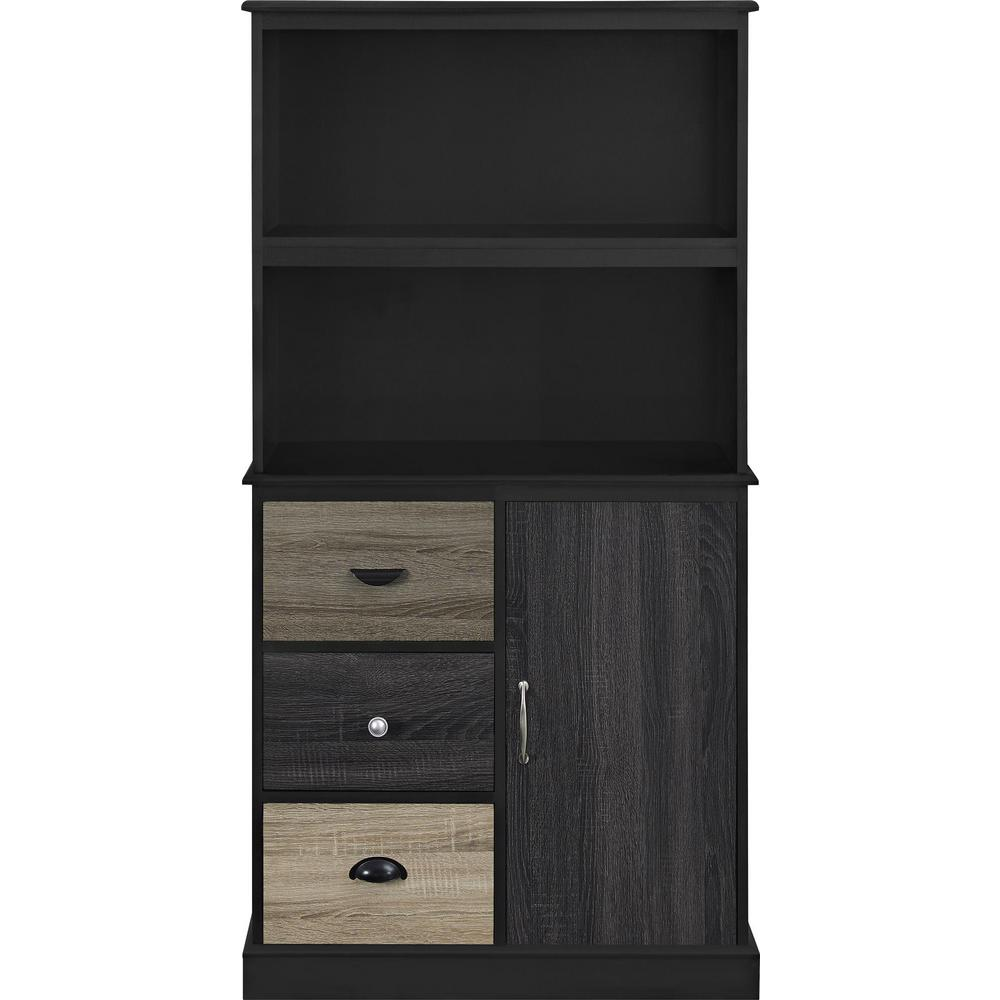 Ameriwood Home Newbridge Black Storage Bookcase With Multicolored