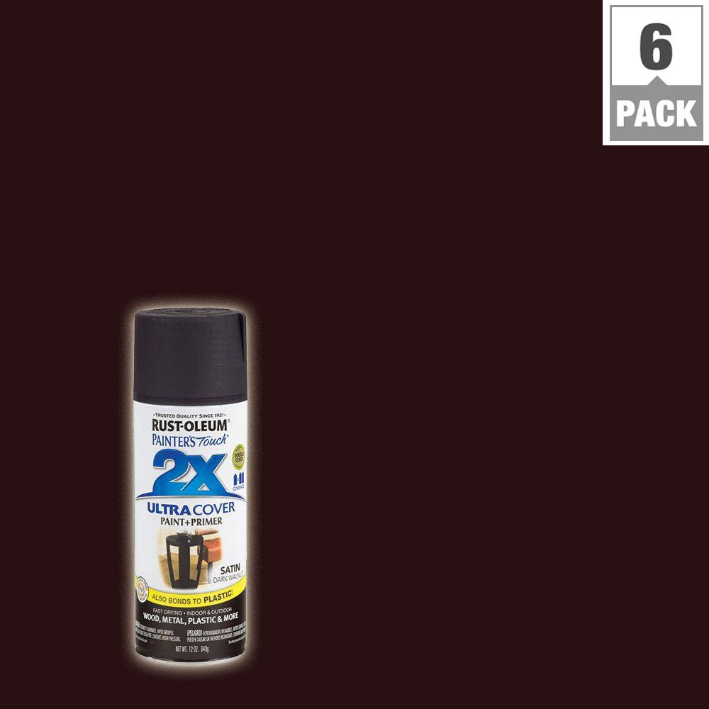 12 oz. Dark Walnut Satin General Purpose Spray Paint (6-Pack)