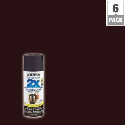12 oz. Dark Walnut Satin General Purpose Spray Paint (6-Pack)