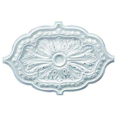 36 in. x 26 in. x 1-5/8 in. Leaf Polyurethane Oval Ceiling Medallion
