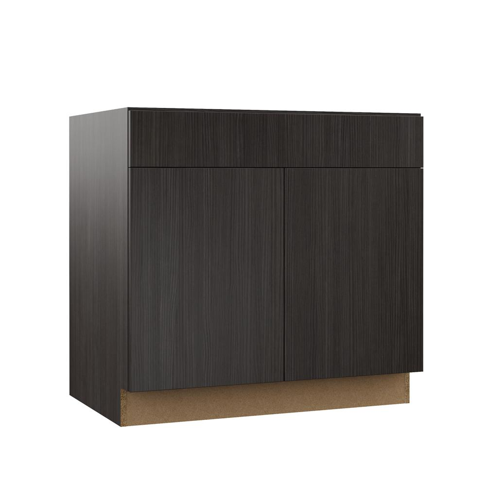 Admirable Hampton Bay Designer Series Edgeley Assembled 36X34 5X23 75 In Accessible Ada Sink Base Kitchen Cabinet In Thunder Home Interior And Landscaping Palasignezvosmurscom