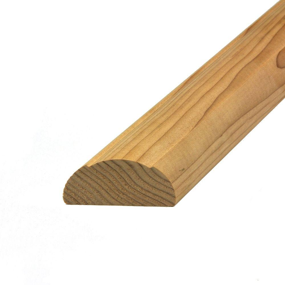 Stair Simple Hemlock Axxys 8 ft. Shoe Rail (Un-Drilled)