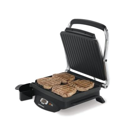 Hamilton Beach-Steak Lover's 100 sq. in. Black Indoor Grill with Lid