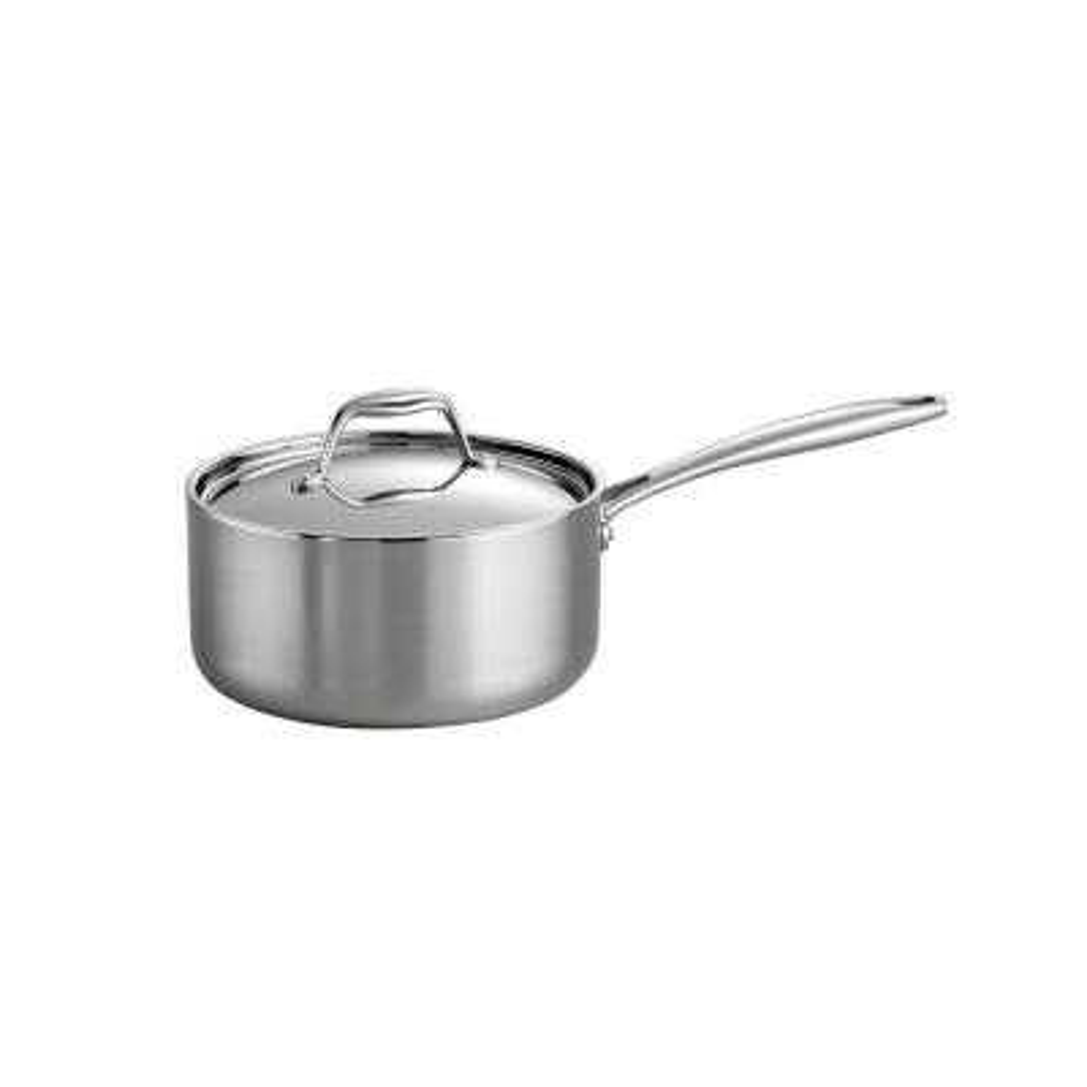 Gourmet 3 Qt. Tri-Ply Clad Saucepan with Lid