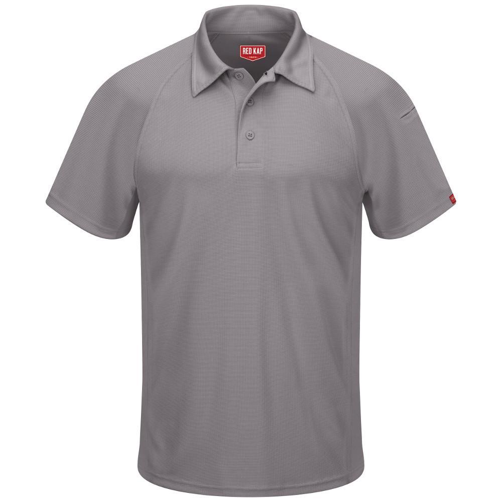 Men's Size 4XL Grey Active Performance Polo