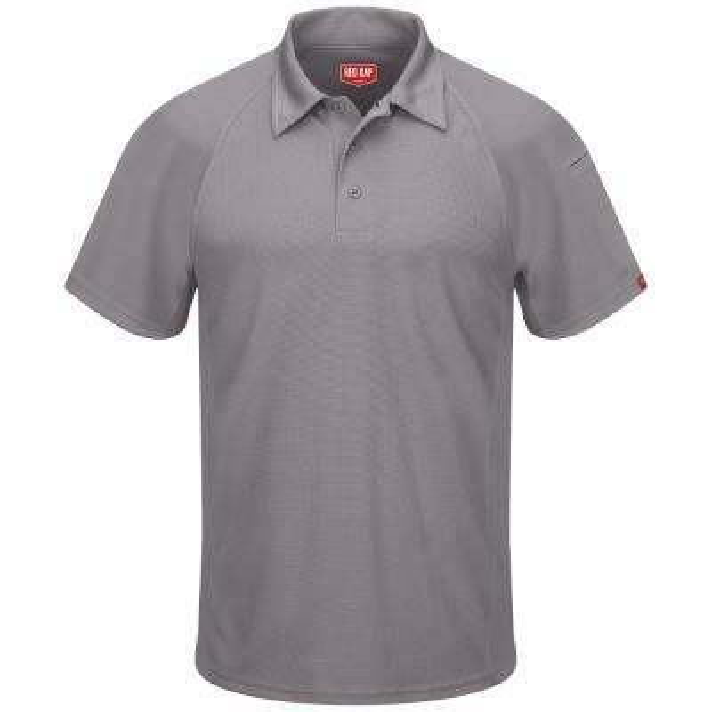 Men's Size 5XL Grey Active Performance Polo