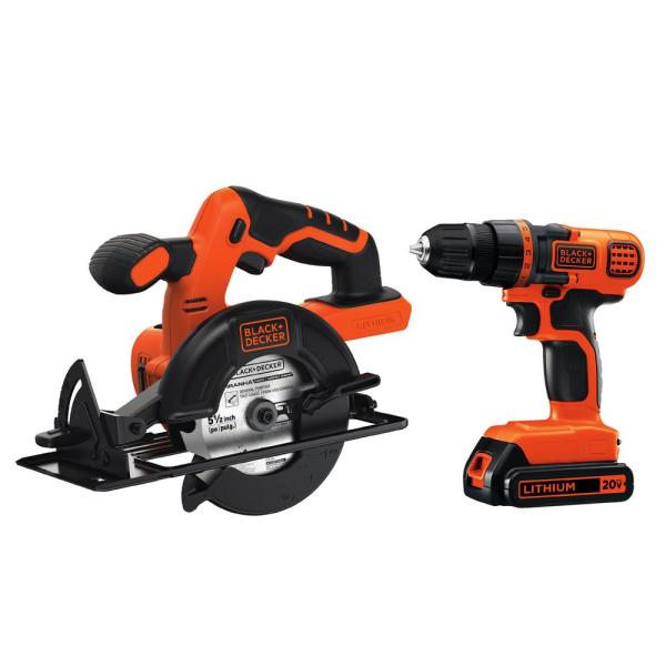 20-Volt MAX Lithium-Ion Cordless Drill/Driver and Circular Saw Combo Kit (2-Tool) with Battery 1.5Ah and Charger