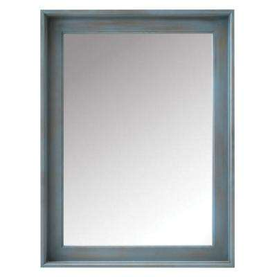 Chennai 24 in. W x 32 in. H Framed Bath Mirror in Blue Wash