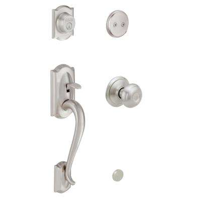 Camelot Satin Nickel Georgian Knob Dummy Door Handleset