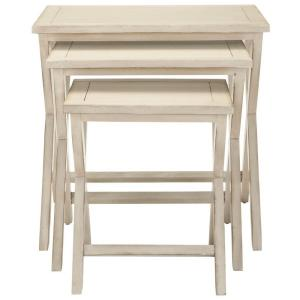 Safavieh Maryann White Washed Nesting End Table by Safavieh