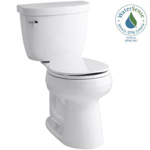 Cimarron Comfort Height 2 Piece 1 28 Gpf Single Flush Round Toilet With Aquapiston Technology