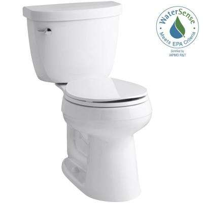 Cimarron Comfort Height 2-piece 1.28 GPF Single Flush Round Toilet with AquaPiston Flush Technology in White