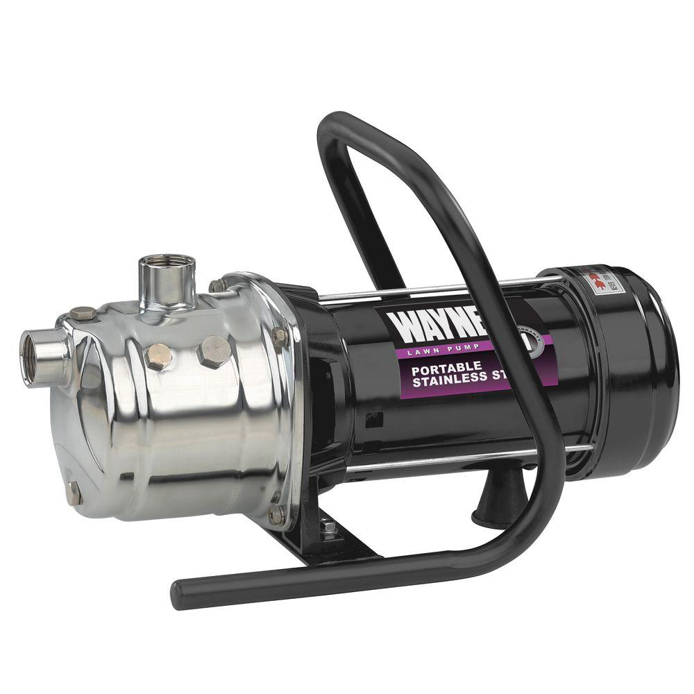 Wayne 1 Hp Stainless Steel Portable Sprinkler Pump Pls100