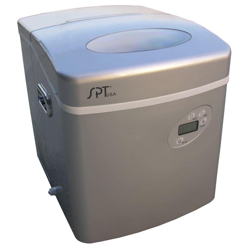 SPT 35 lb. Portable Ice Maker in Platinum