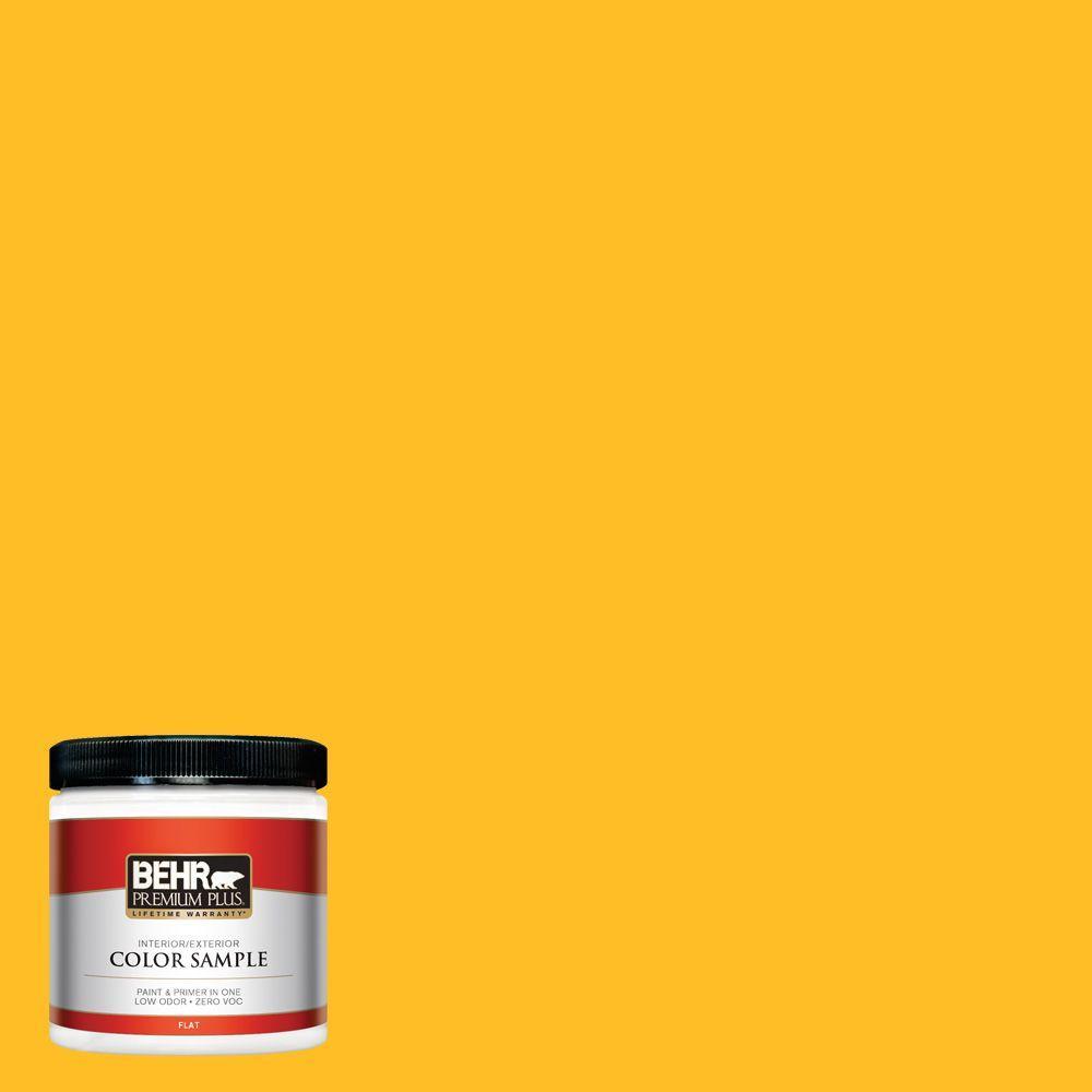 BEHR Premium Plus 8 oz. #320B-7 Macaw Interior/Exterior Paint Sample