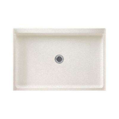 32 in. x 48 in. Solid Surface Single Threshold Shower Floor in Tahiti White