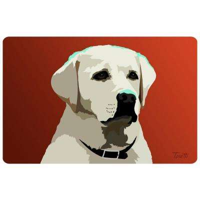 Printed Blond Lab 33 17.5 in. x 26.5 in. Mat