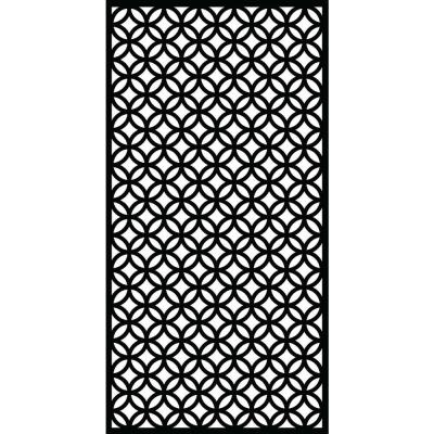Halo 71 in. x 2.95 ft. Charcoal Recycled Plastic Decorative Fence Panel Screen with Slimline Frame