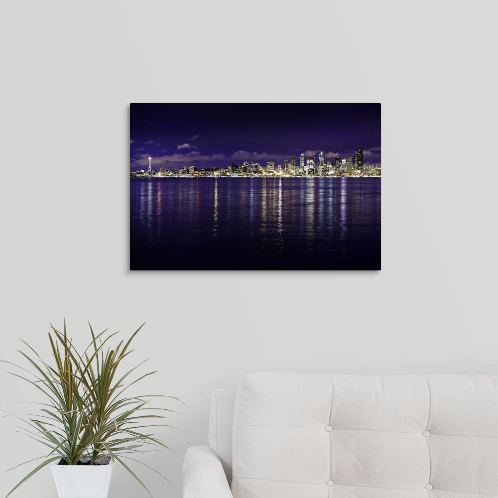 greatbigcanvas seattle skyline i by bob stefko canvas wall art