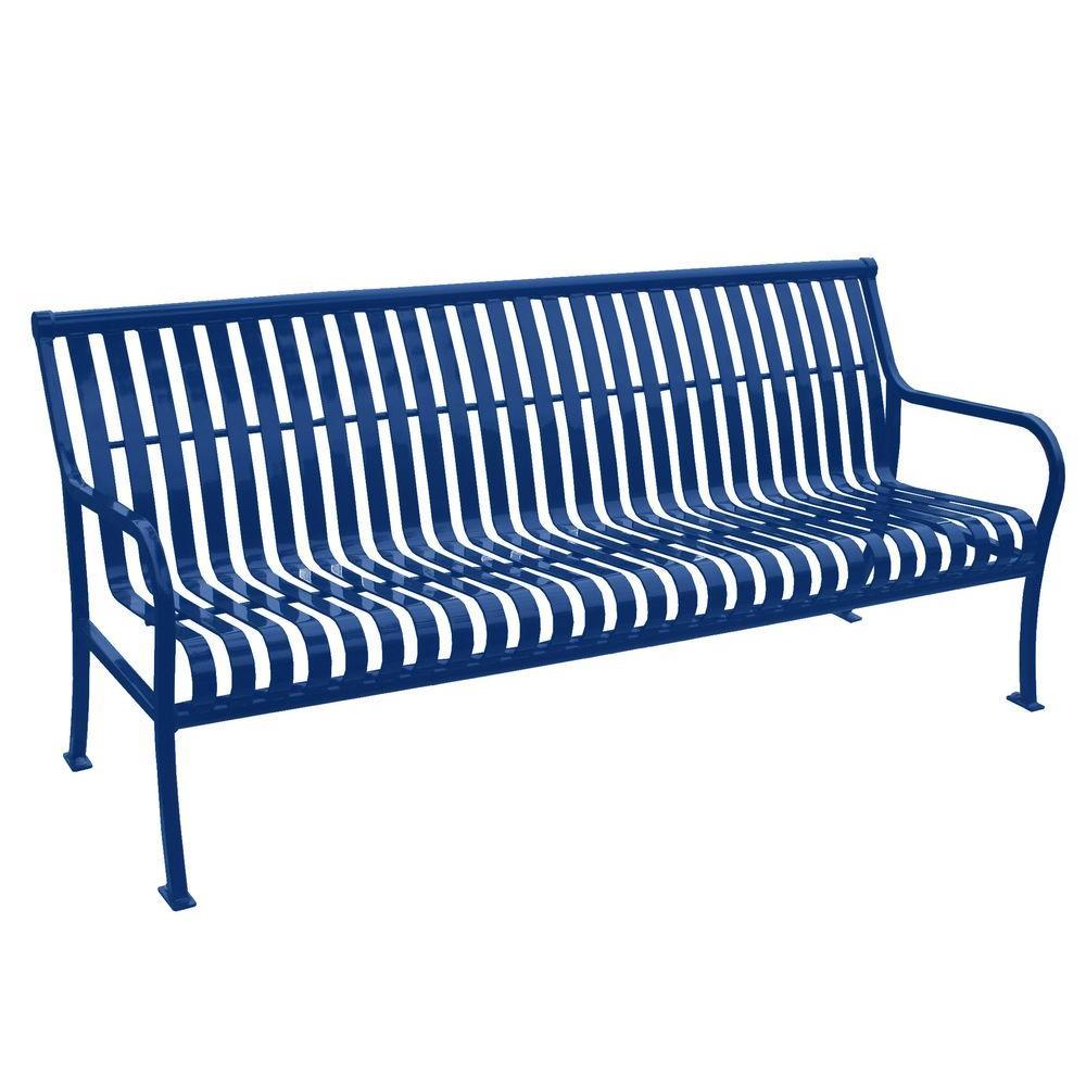 6 ft. Blue Premier Bench