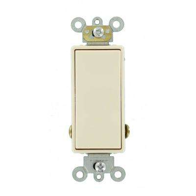 15 Amp Decora Plus Commercial Grade Single Pole Double-Throw Center-Off Momentary Contact Rocker Switch, Light Almond