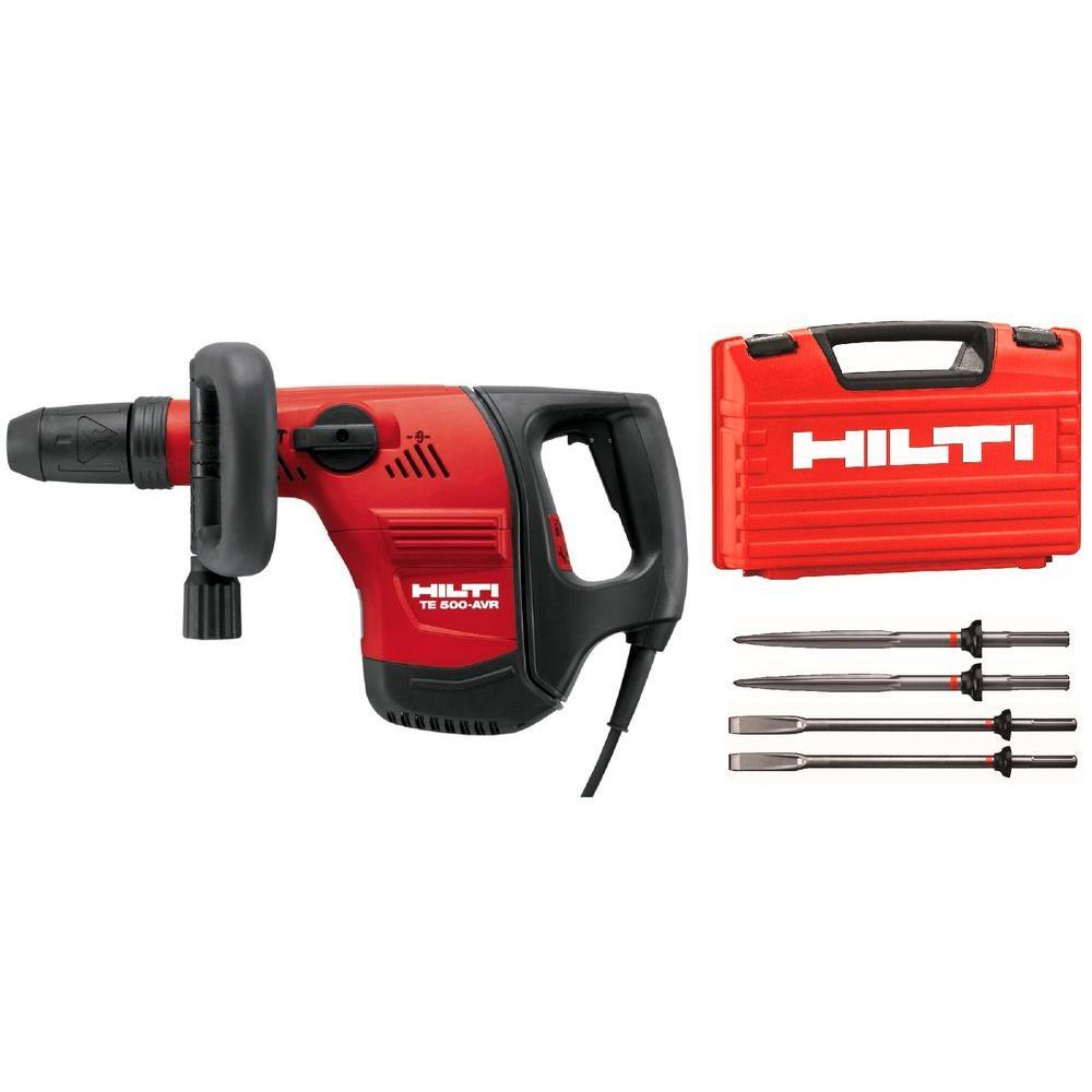 Hilti 120-Volt SDS-MAX TE 500-AVR Demolition Hammer Performance Package