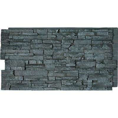 48 in. x 24 in. Canyon Ridge Stacked Stone, StoneWall Faux Stone Siding Panel