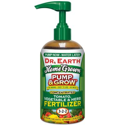 16 oz. Organic Pump and Grow Home Grown Herb, Vegetable and Tomato Fertilizer