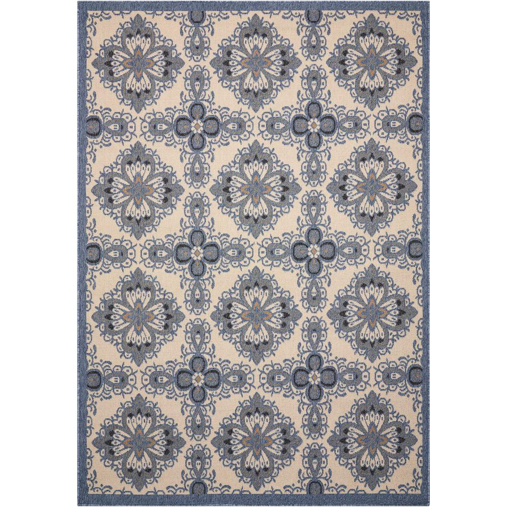 Caribbean Ivory Blue 5 ft. 3 in. x 7 ft. 5