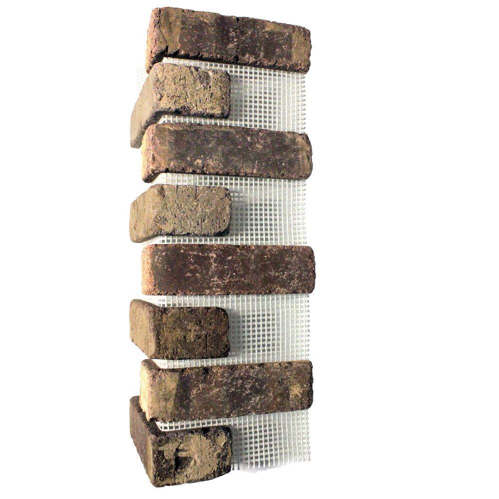 Old Mill Brick Brick Web 5.3 lin. ft. 21 in. x 7-5/8 in. x 1/2 in. Cafe Mocha Clay Thin Brick Corners (Box of 3)