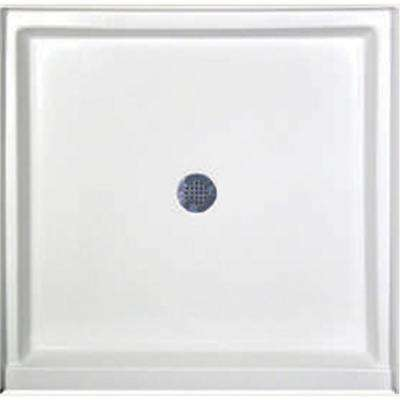 32 in. x 32 in. Single Threshold Shower Base in White
