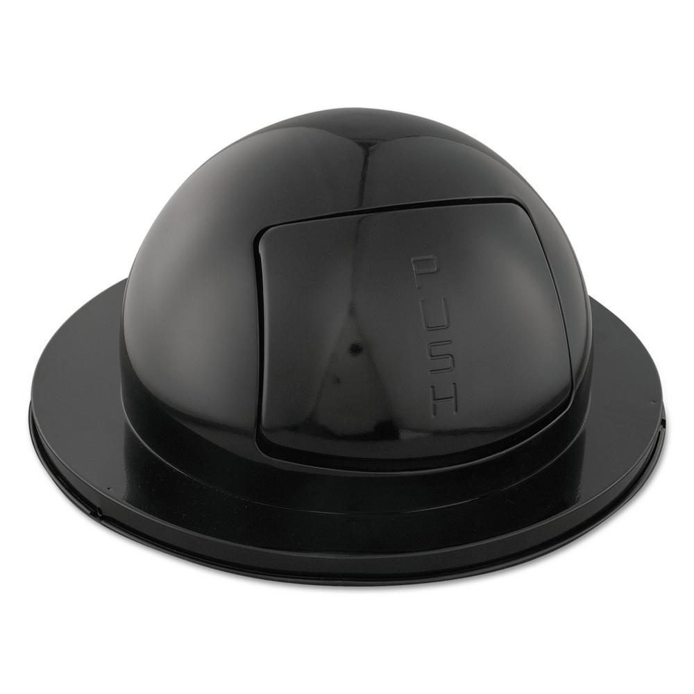 55 Gal. Drum Black Dome Top Lid
