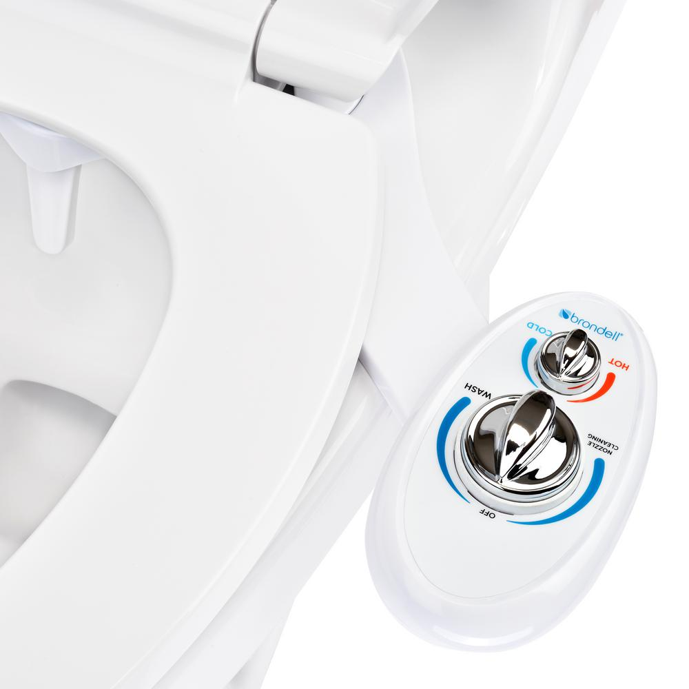 Brondell Southspa Non Electric Left Handed Bidet Attachment In White Lh 20 The Home Depot