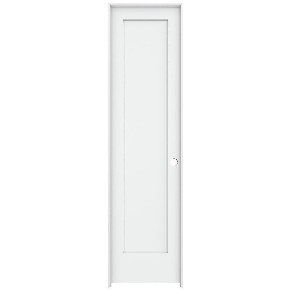 Jeld Wen 24 In X 96 In Madison White Painted Left Hand Smooth Solid Core Molded Composite Mdf