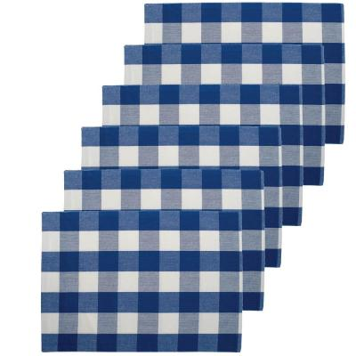 13 in. x 19 in. Multi Cotton Franklin Blue Placemat (Set of 6)