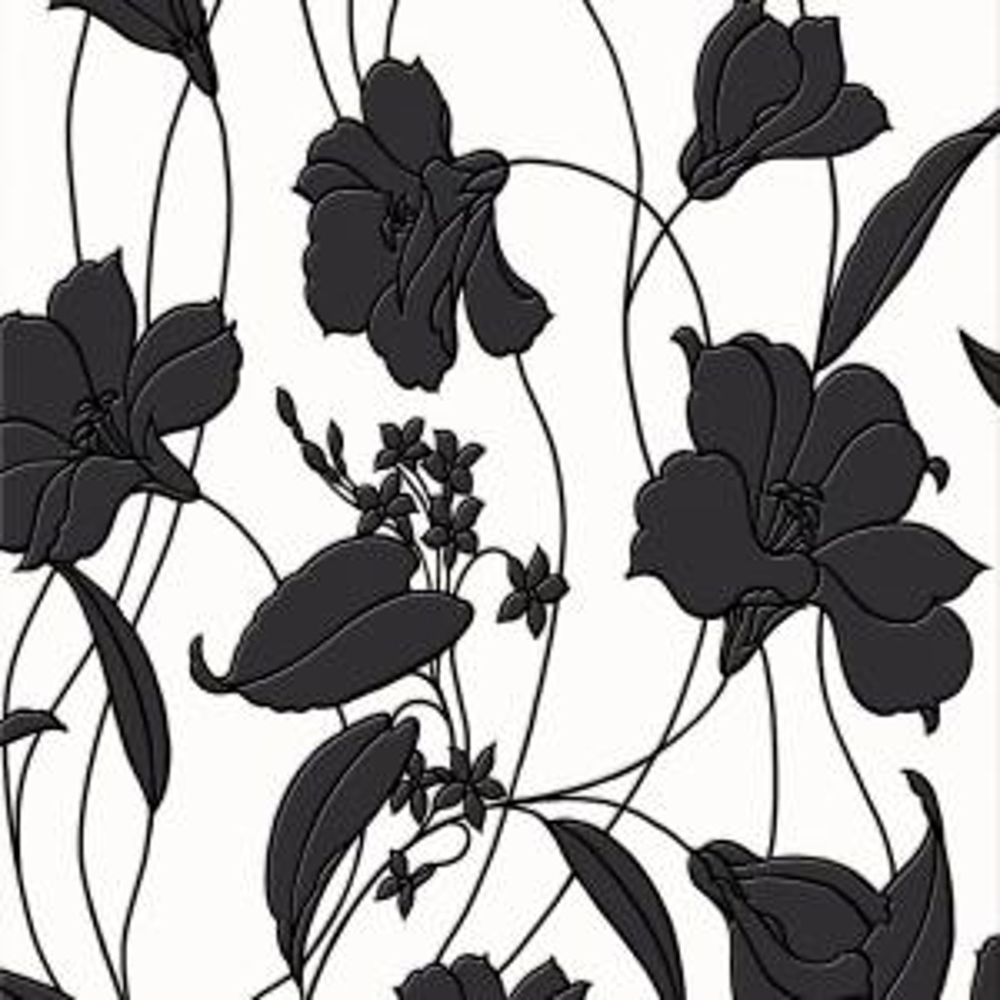 Graham & Brown Black Marylou Wallpaper by Graham & Brown