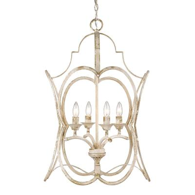Sabrina Collection 4-Light Antique Ivory Pendant