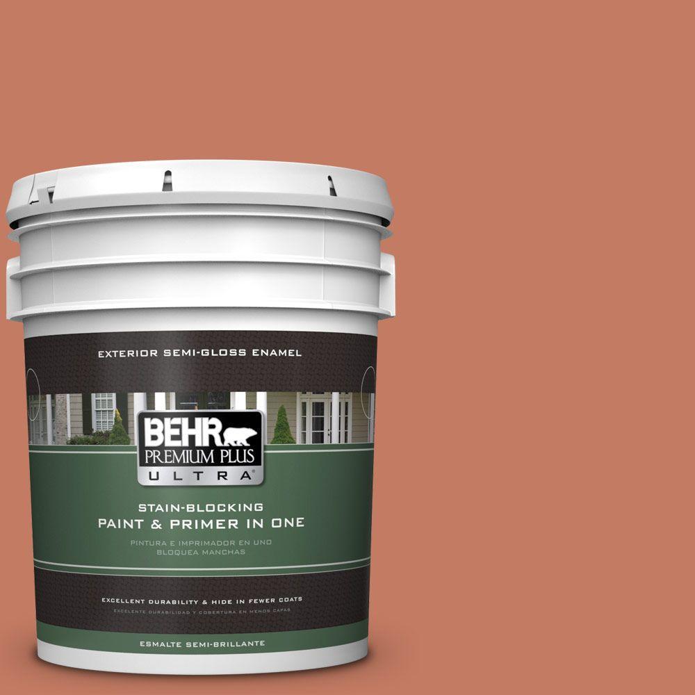 5-gal. #220D-6 Miami Spice Semi-Gloss Enamel Exterior Paint