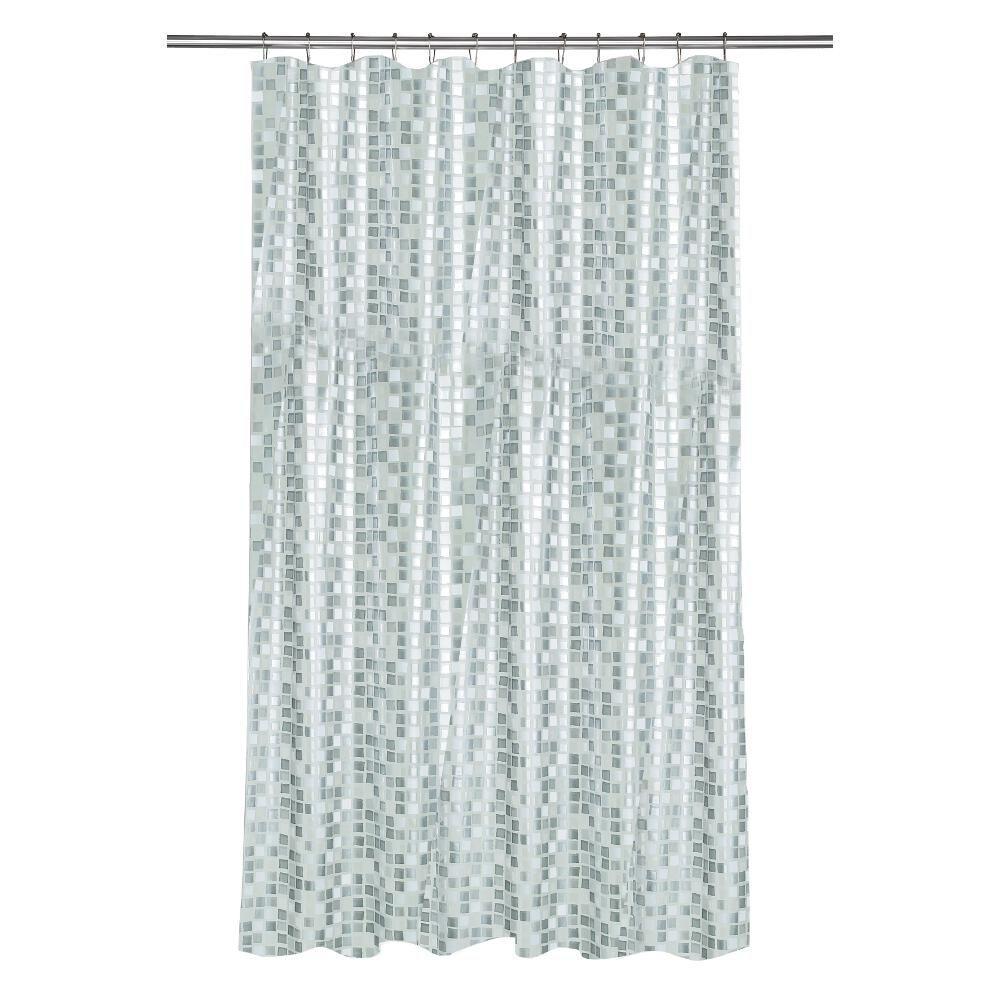 Croydex Shower Curtain in Mosaic Silver by Croydex