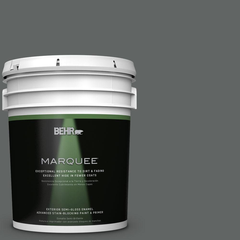 5-gal. #BXC-41 Charcoal Semi-Gloss Enamel Exterior Paint