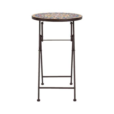 Cielo Mosaic Metal Outdoor Side Table
