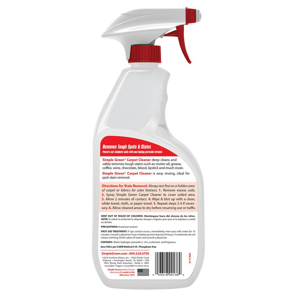 Simple Green 32 Oz Ready To Use Carpet Cleaner 0500000101032 The Home Depot