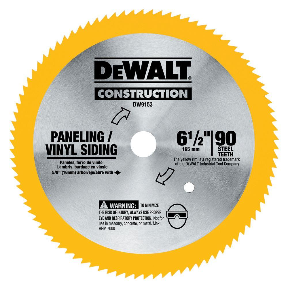 Dewalt 6 12 circular saw blades saw blades the home depot 90 t steel saw blade vinylpanneling keyboard keysfo Image collections