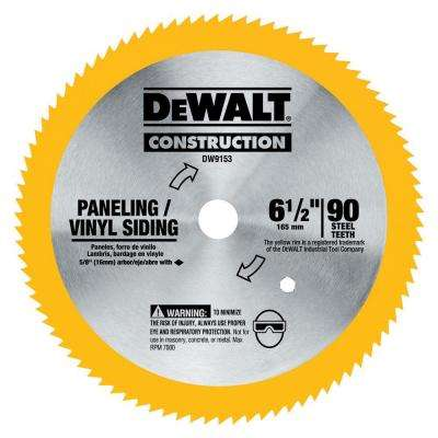 6-1/2 in. 90 T Steel Saw Blade (Vinyl/Panneling)